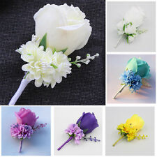 Wedding Flower Rose Corsage Groom Best Man Boutonniere Prom Party Decoration