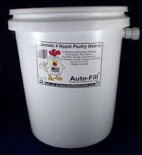 Automatic ChickenWaterer  5 Gallon 4 Nipple - Auto-Fill Garden Hose Connection