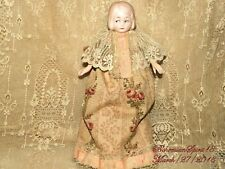 ANTIQUE 1920's GERMANY BISQUE CLOTH LACE PANTALOON FLOWERS DRESS GIRL DOLL