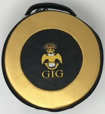 New Scottish Rite GIG Cap Case In Black and Gold with Emblem
