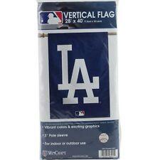 "Los Angeles LA Dodgers Vertical Hanging Flag Banner 28"" x 40"" MLB Yard Lawn"