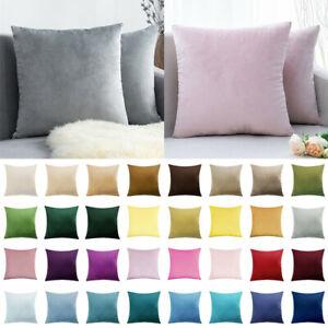 "18"" 20"" 24""Large Plain Velvet Soft Cushion Cover Pillow Case Sofa Car Home Decor"