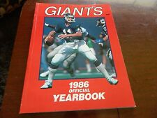 1986 NFL Football New York Giants Yearbook EX condition PHIL SIMS