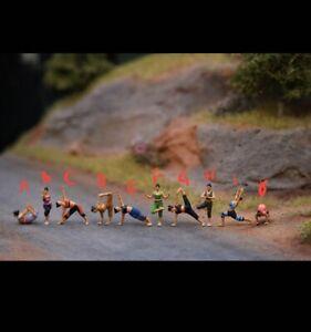 Miniature Figure Yoga H0 Scale 1/87 or 1/64 no Preiser
