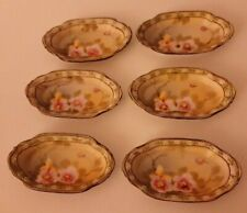 Set Of 6 Antique Nippon Coronation Ware Hand Painted Open Salts Pre 1921