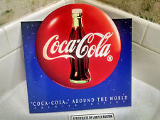 Coca-Cola 3 Phone Card set-w/folder-Cert. 242/2,500-Scoreboard-Japan-Germany,USA
