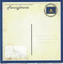 Sc - Pennsylvania Postcard Scrapbooking Paper - 1 sheet - Vintage 36206