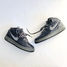Nike Air Force 1 High Top Navy Gray Sneakers Basketball Shoes Size 9.5 7782ab1ec3c8d