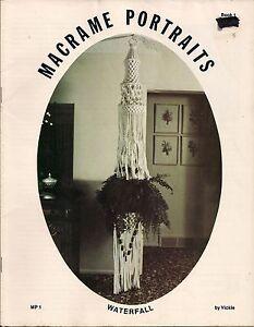 Craft Book: # MP1 Macrame Portraits Book 1 - Rare Plant Hanger Patterns