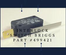 New Micro Interlock Switch Briggs Part #499421 or Toro Lawn Mower model #20334