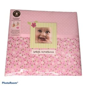 Carters Child of Mine Floral Pink Baby's Pre-designed Scrapbook Photo Album