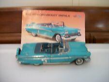 Vintage Danbury Mint 1958 Chevrolet Impala Turquoise Convertible