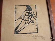 GIUSEPPE VIVIANI, L'arsaio xilografia firmata 1924