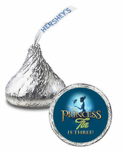 108 The Princess and The Frog Birthday Party Favors Personalized Kisses Labels
