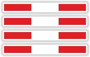 4x AUSTRIA STICKER STRIPE FLAG  DECAL BUMPER BIKE MOTO Aufkleber pegatina auto