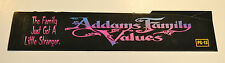 ADDAMS FAMILY VALUES 1993 ORIGINAL MOVIE THEATER MARQUEE LIGHT BOX TITLE STRIP
