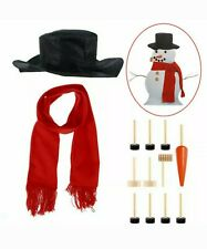 13pcs Snowman Decorating Kit Making Set Outdoor Winter Holiday Christmas Decor