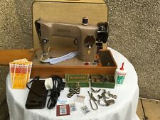 Heavy Duty Singer 201K in good condition with attachments and instructions-NR