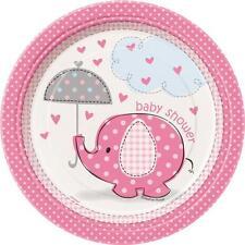 Confezione 8 Piatti Carta 17 cm , Baby Shower Nascita Bimba PS 20672