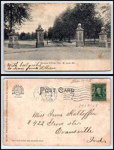 MISSOURI Postcard - St. Louis, Entrance To O'Fallon Park Q34