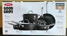 OXO Good Grips Hard-Anodized Non-Stick Pro 12 Piece Cookware Set NEW