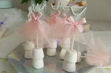 Pretty tulle dress Cupcake toppers - pink and silver sparkle - girly party