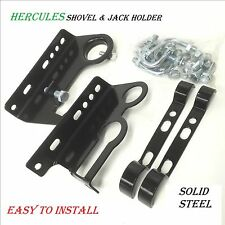 High Lift Jack Farm Jack and Shovel Holder Brackets; Fits Most 4WD Roof Racks