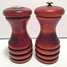 Vintage Baribocraft Canada Wooden Salt Shaker And Pepper Mill 5.5""