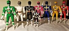 """Lot of 8 Mighty Morphin Power Rangers 8"""" Figure Karate Action '93/'94"""