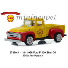 GREENLIGHT 27890 A 1956 FORD F-100 SHELL OIL 100TH ANNIVERSARY 1/64 YELLOW