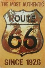 USA Route 66 American Highway Biker BSA NORTON SUZUKI placca di metallo tin sign B230