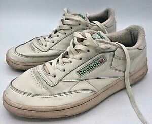 ✅ Reebok Club C Off White ✅Stacked Trainers Size UK 9.5✅