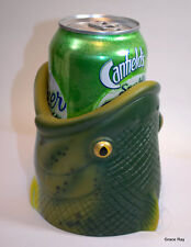 Beer Pop Can Cooler Holder REP Rainbow Trout Fish Head Rubber