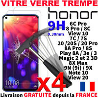 VITRE VERRE TREMPE PROTECTION ECRAN POUR HONOR 20s PRO 8C 9N VIEW NOTE 10 MAGIC