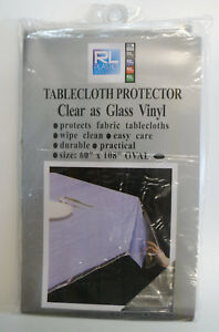 Clear as Glass Durable 100% Vinyl Tablecloth protector by RL Plastic®