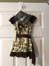 Little Girls Melon Monkey Dress Size 2T And Shoes Size 5 With headband