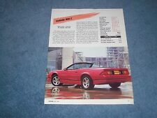 1988 Camaro IROC-Z Convertible New Car Info Article