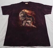 The Mountain t-shirt XXL purple wolves wolf USA mountain