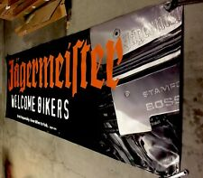 Jeagermeister GIANT WELCOME BIKERS  Banner   Man Moto Cave.  Sturges Sd Harley