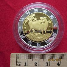 Medaglia - Cina Segno zodiaco - Anno la Mucca - incapsulato