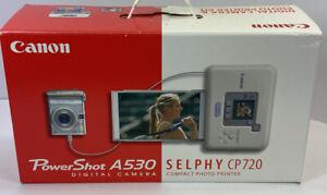 Canon SELPHY CP720 Printer Power Shot A530 Combo