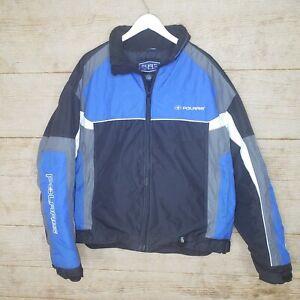 Pure Polaris Free Ride Snowmobile Jacket Men's Size XL Blue Black