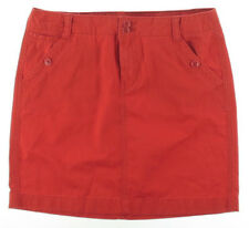 NEW Womens Tommy Hilfiger Red Twill Chino Five Pocket Knee-Length Skirt AU 20