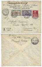 ITALIA 1926 SAN FRANCESCO + 60 c. GIUBILEO NON DENTELLATO SU RACCOMANDATA
