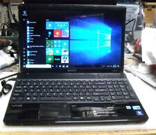 "Sony VAIO VPCEB23FM 15.4""  Laptop Intel i3 500Gb had drive 4Gb Ram window 10"