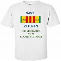 USS MATTAPONI  AO-41  *SOUTH VIETNAM* VIETNAM VETERAN RIBBON 1959-1975 SHIRT