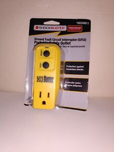 ShockBuster™ by Tower Manufacturing Portable GFI Outlet