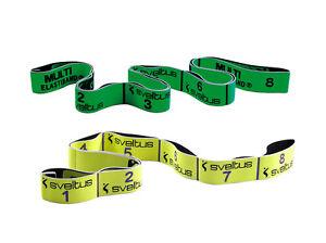 Sveltus Elastiband Gymnastik Band Original Gelb 10kg und Multi Grün 10kg