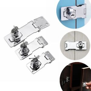 "Locking Hasp and Staple with Keys Padlock Cupboard Shed Garage Lock 2.5""/3""/4"