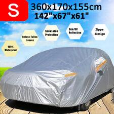 Car Cover Sun UV Dust Snow Rain Resist Waterproof Protector w/ Zipper For Hatch